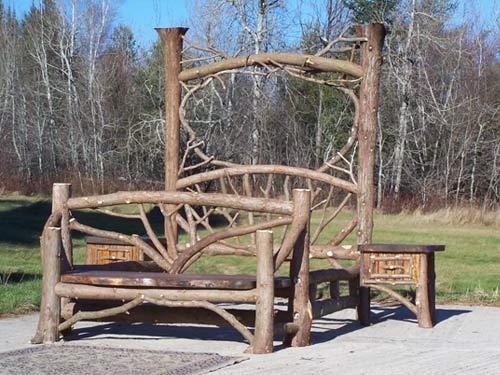 Adirondack rustic furnishings adirondack custom twig rustic furnishings art gallery of outdoor Adirondack bed frame