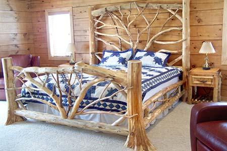 ADIRONDACK RUSTIC BED FRAMES BIRCH ABRK DRESSERS - Rustic