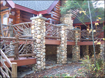 Adirondack Rustic Furniture, Custom Made Furniture, Birch Twig Railings,  Twig Work, Birch
